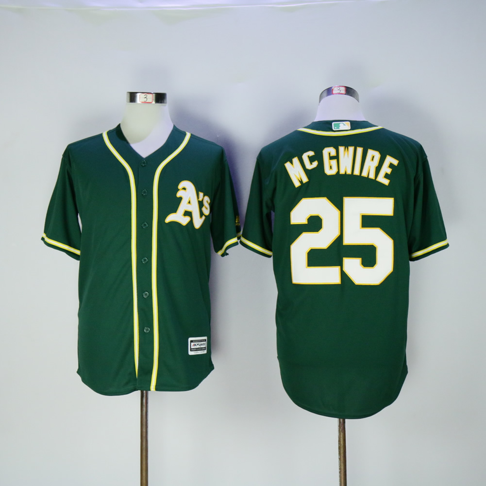 Men Oakland Athletics 25 Mcgwire Green MLB Jerseys