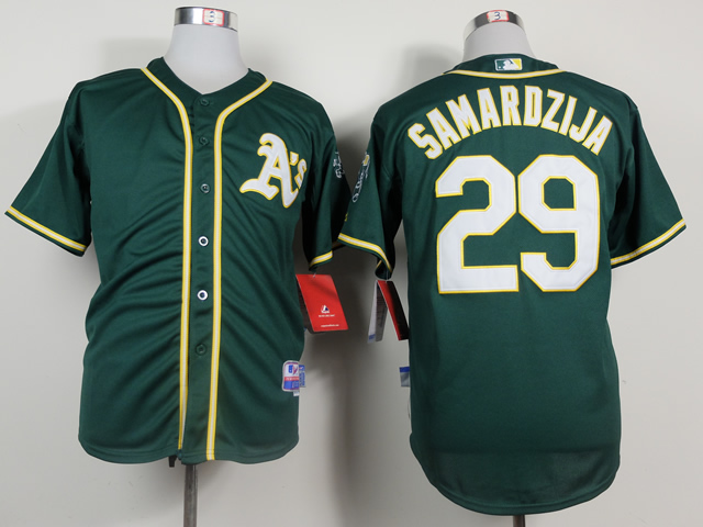 Men Oakland Athletics 29 Samardzija Green MLB Jerseys