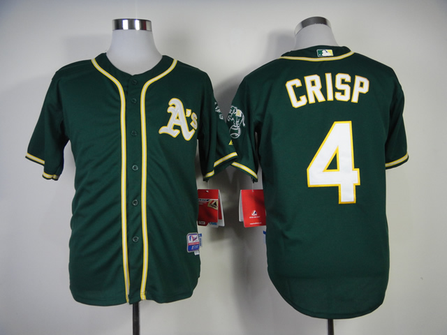 Men Oakland Athletics 4 Crisp Green MLB Jerseys