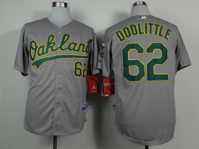 Men Oakland Athletics 62 Doolittle Grey MLB Jerseys