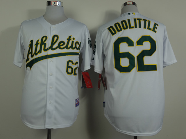 Men Oakland Athletics 62 Doolittle White MLB Jerseys