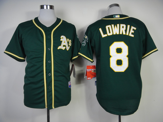 Men Oakland Athletics 8 Lowrie Green MLB Jerseys