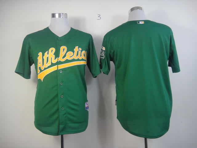 Men Oakland Athletics Blank Green MLB Jerseys