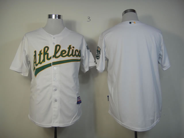 Men Oakland Athletics Blank White MLB Jerseys