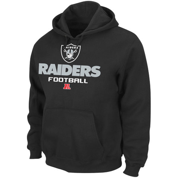 Men Oakland Raiders Majestic Critical Victory V Pullover Hoodie