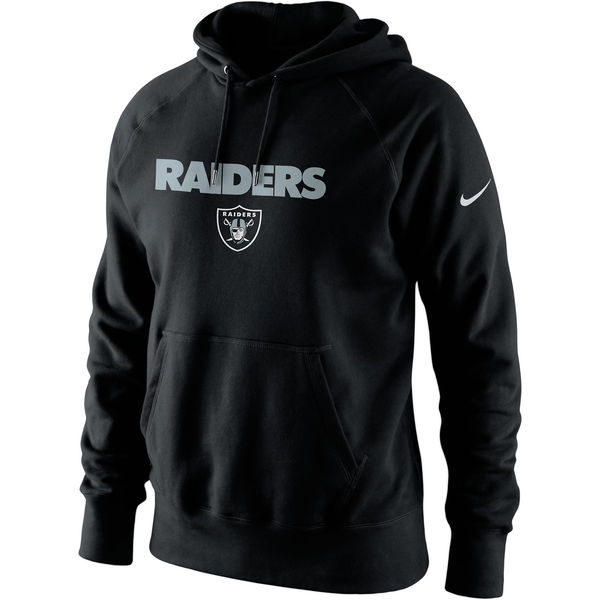 Men Oakland Raiders Nike Lockup Pullover Hoodie Black