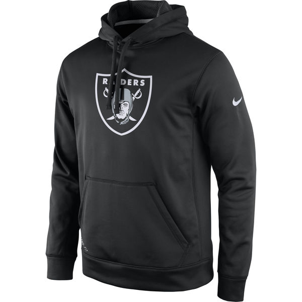 Men Oakland Raiders Nike Practice Performance Pullover Hoodie Black