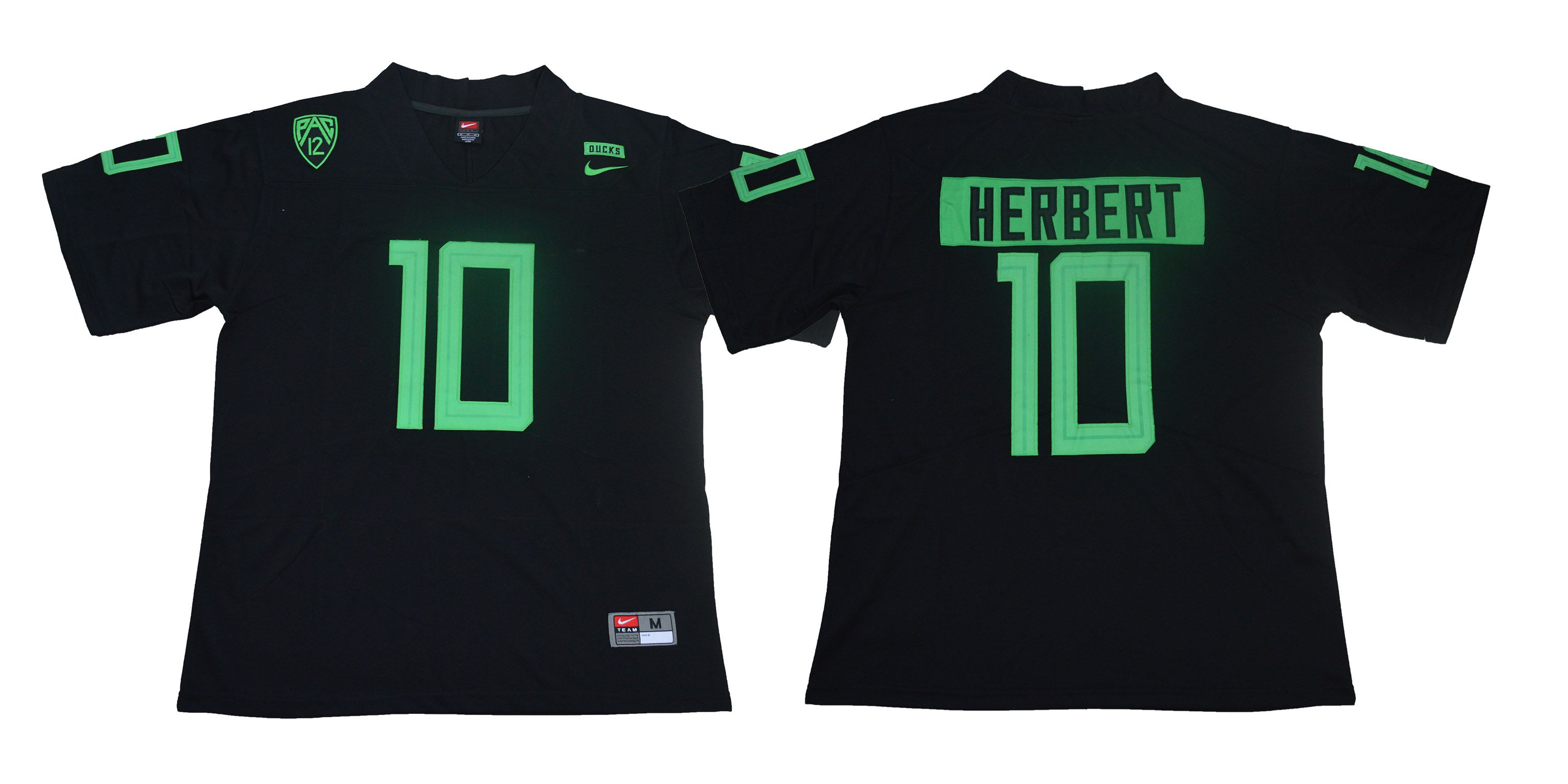 Men Oregon Ducks 10 Herbert Black Legendary Edition Nike NCAA Jerseys