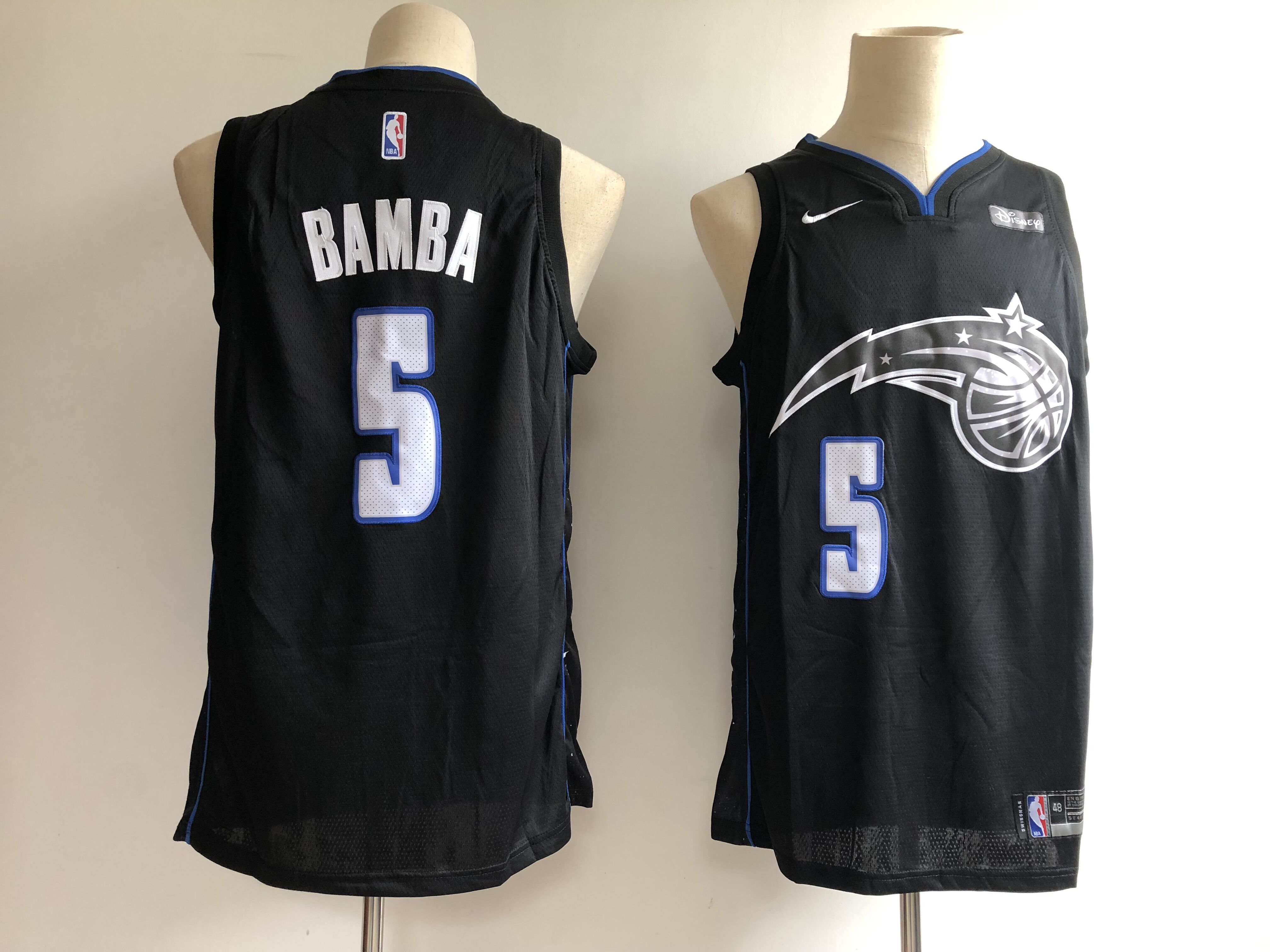 Men Orlando Magic 5 Bamba black City Edition NBA JERSEY