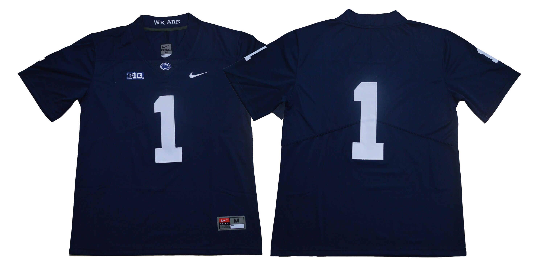 9cf7f3b91a7 Men Penn State Nittany Lions 1 Joe Paterno Navy Blue Nike NCAA Jerseye