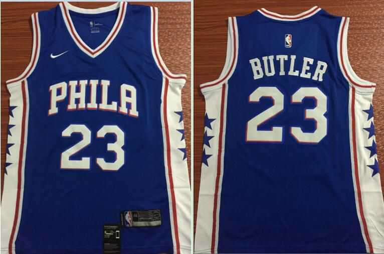 Men Philadelphia 76ers 23 Butler Blue Nike Game NBA Jerseys