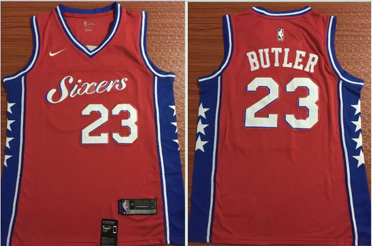 Men Philadelphia 76ers 23 Butler Red Nike Game NBA Jerseys
