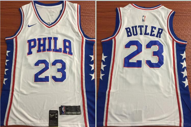 Men Philadelphia 76ers 23 Butler White Nike Game NBA Jerseys