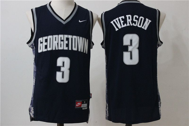 Men Philadelphia 76ers 3 Iverson Black Nike NBA Jersey