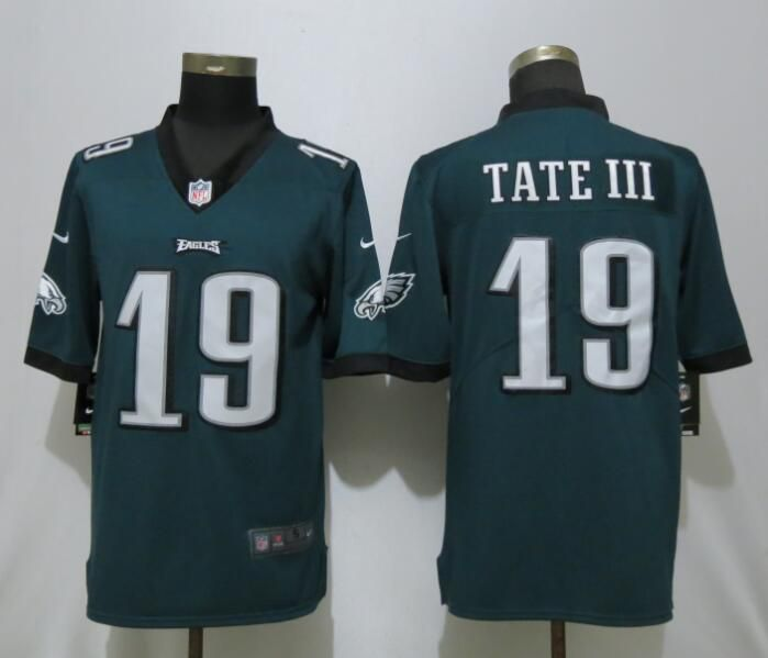 Men Philadelphia Eagles 19 Tate lll Green Nike Vapor Untouchable Limited Playey NFL Jersey