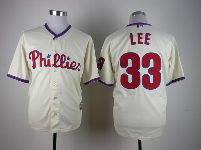 Men Philadelphia Phillies 33 Lee Cream MLB Jerseys