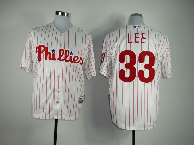 Men Philadelphia Phillies 33 Lee White MLB Jerseys