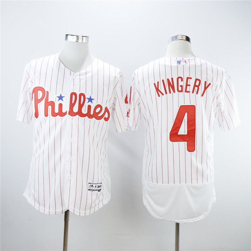 Men Philadelphia Phillies 4 Kingery White Elite MLB Jerseys