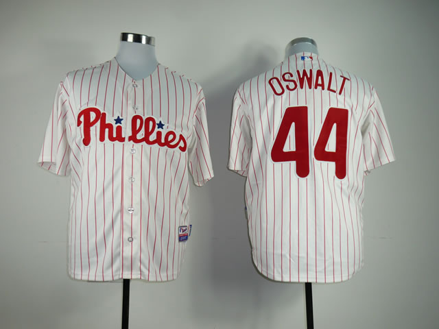 Men Philadelphia Phillies 44 Oswalt White MLB Jerseys