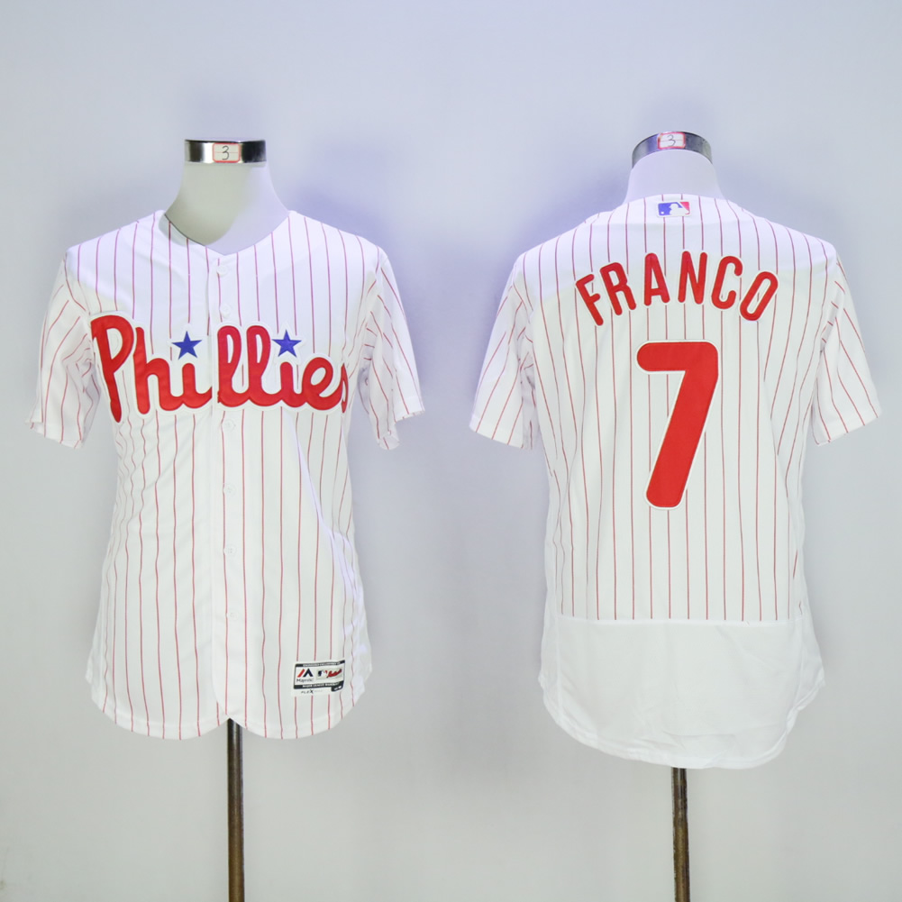 Men Philadelphia Phillies 7 Franco White Elite MLB Jerseys
