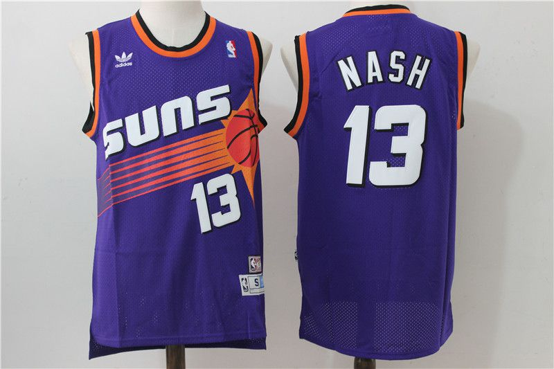 Men Phoenix Suns 13 Nash Purple Adidas NBA Jerseys