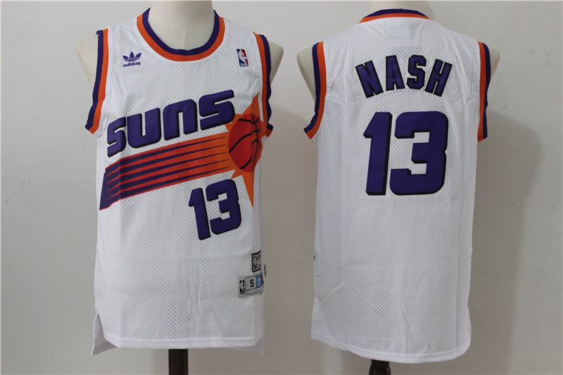 Men Phoenix Suns 13 Nash White Adidas NBA Jerseys
