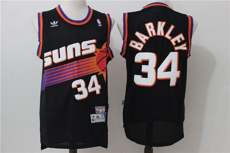 Men Phoenix Suns 34 Barkley Black Adidas NBA Jerseys