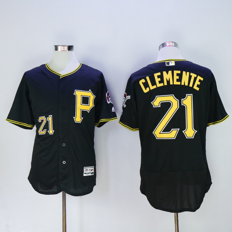 Men Pittsburgh Pirates 21 Clemente Black Elite MLB Jerseys1
