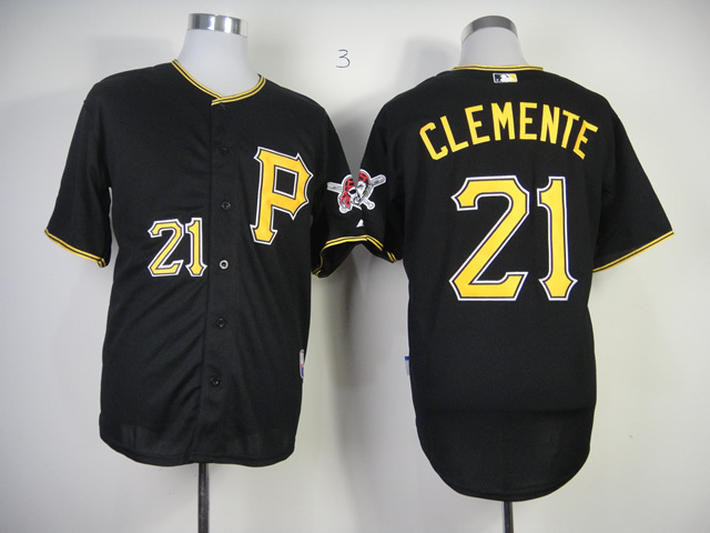 Men Pittsburgh Pirates 21 Clemente Black MLB Jerseys