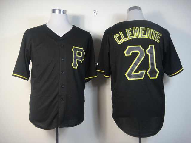 Men Pittsburgh Pirates 21 Clemente Black MLB Jerseys1