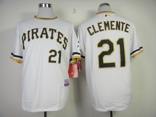 Men Pittsburgh Pirates 21 Clemente White MLB Jerseys