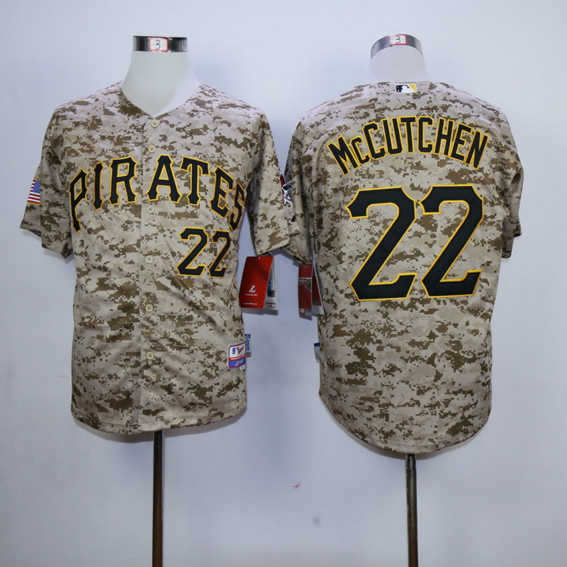 Men Pittsburgh Pirates 22 Mccutchen Camo MLB Jerseys