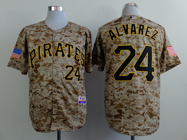 Men Pittsburgh Pirates 24 Alvarez Camo MLB Jerseys