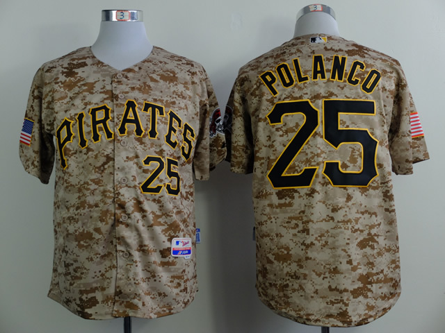 Men Pittsburgh Pirates 25 Polanco Camo MLB Jerseys
