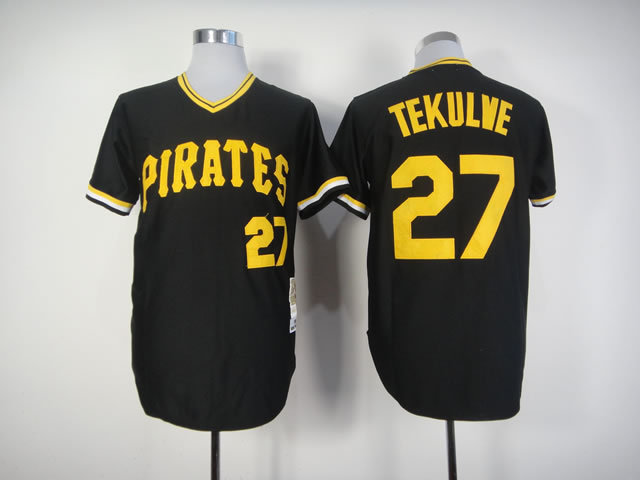 Men Pittsburgh Pirates 27 Kang Black Throwback MLB Jerseys