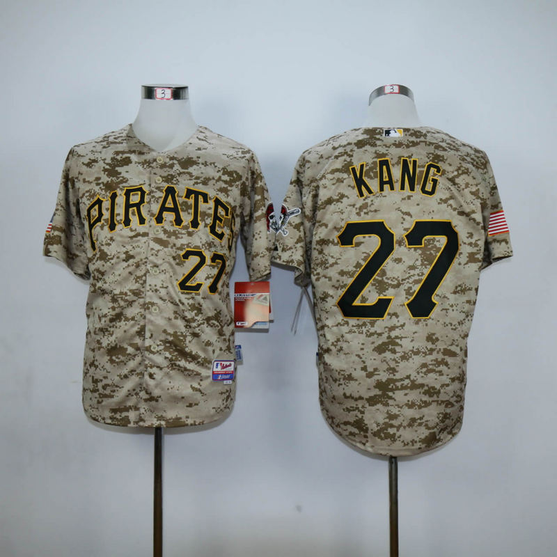 Men Pittsburgh Pirates 27 Kang Camo MLB Jerseys
