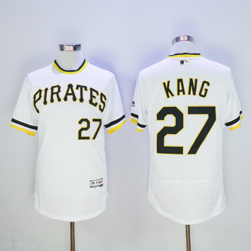 Men Pittsburgh Pirates 27 Kang White Throwback Elite MLB Jerseys