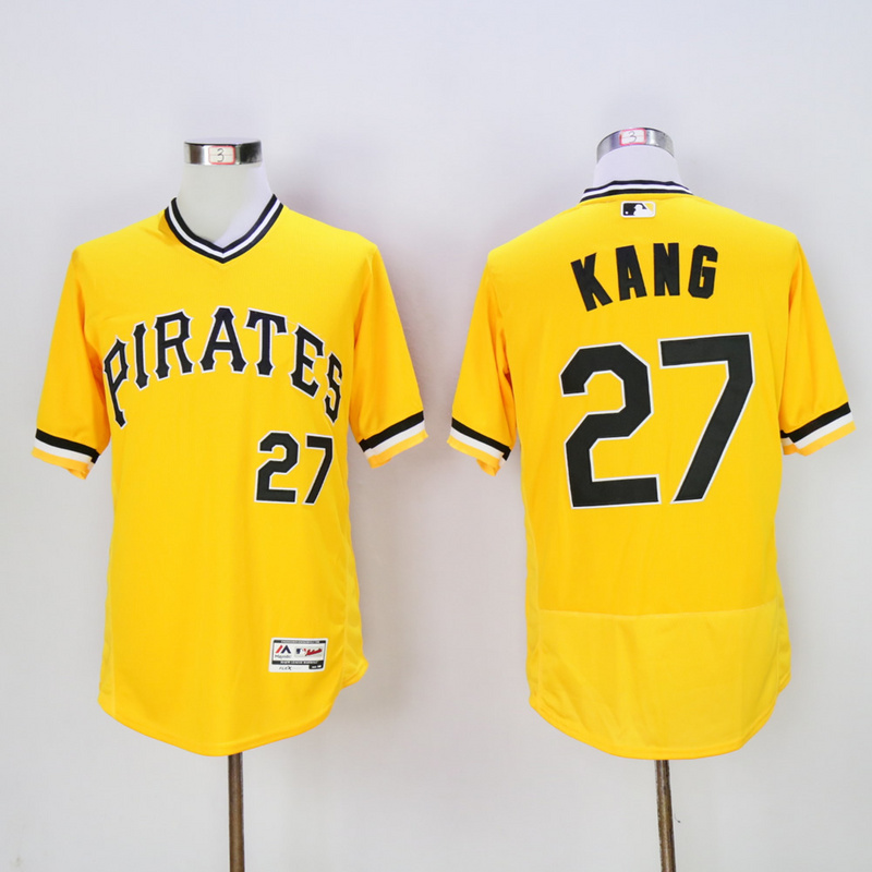 Men Pittsburgh Pirates 27 Kang Yellow Elite MLB Jerseys