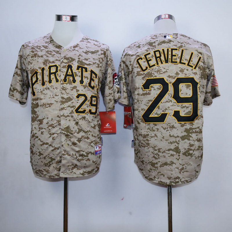Men Pittsburgh Pirates 29 Cervelli Camo MLB Jerseys