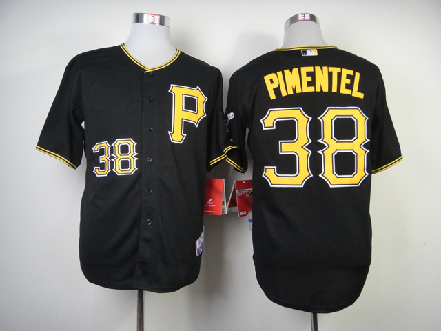 Men Pittsburgh Pirates 38 Pimentel Black MLB Jerseys