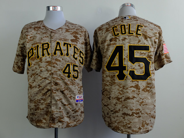 Men Pittsburgh Pirates 45 Cole Camo MLB Jerseys