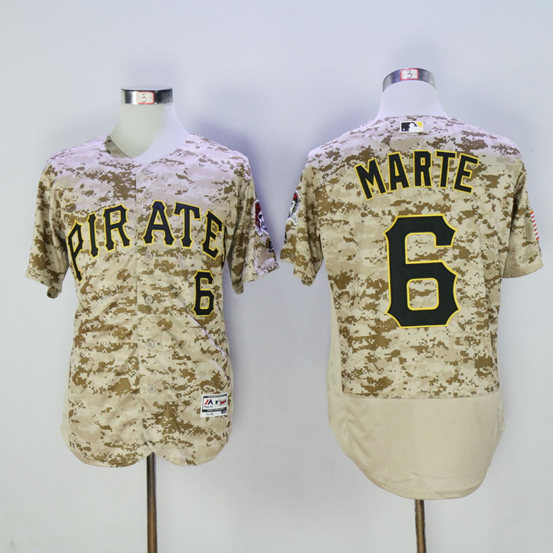 Men Pittsburgh Pirates 6 Marte Camo Elite MLB Jerseys