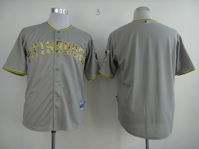 Men Pittsburgh Pirates Blank Grey Camo MLB Jerseys