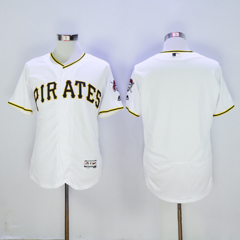 Men Pittsburgh Pirates Blank White Elite MLB Jerseys1