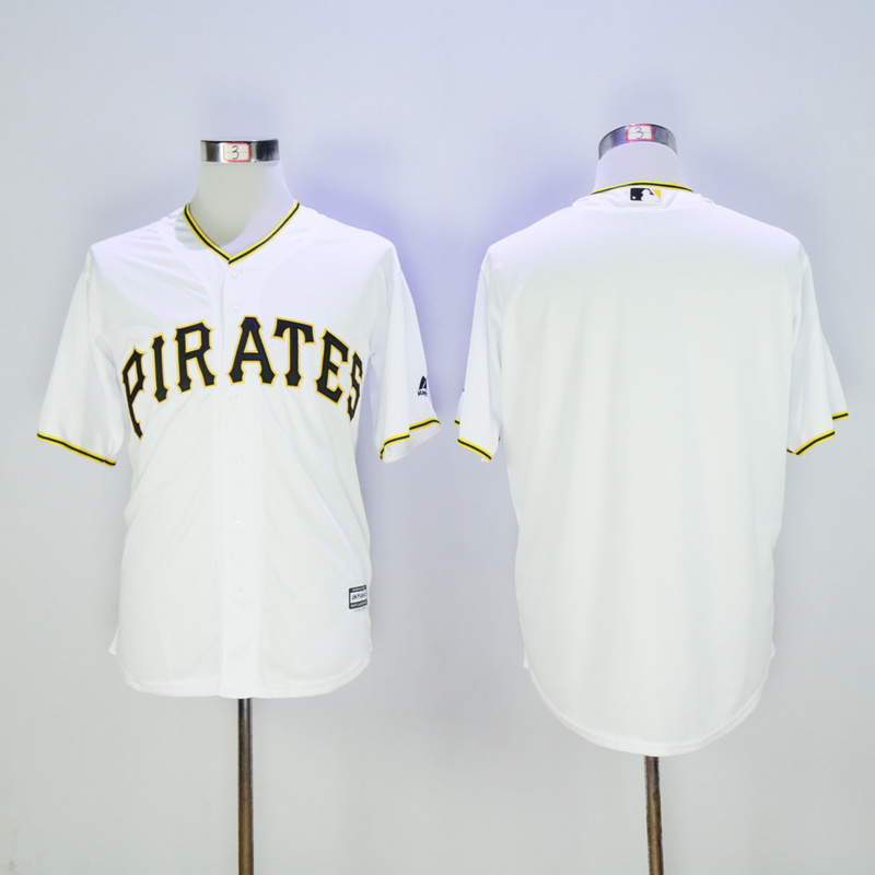 Men Pittsburgh Pirates Blank White Game MLB Jerseys