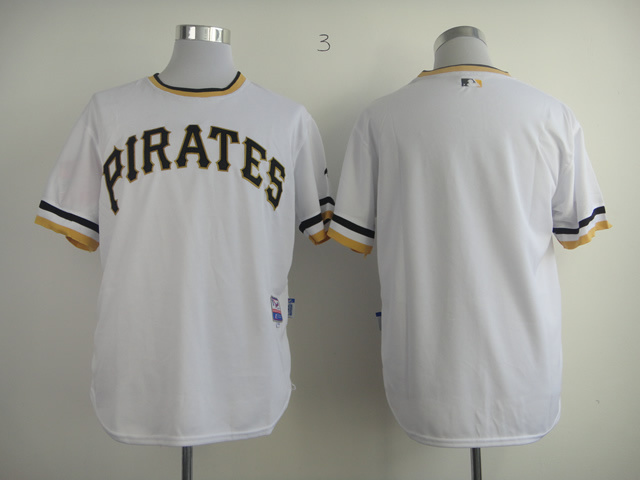 Men Pittsburgh Pirates Blank White MLB Jerseys