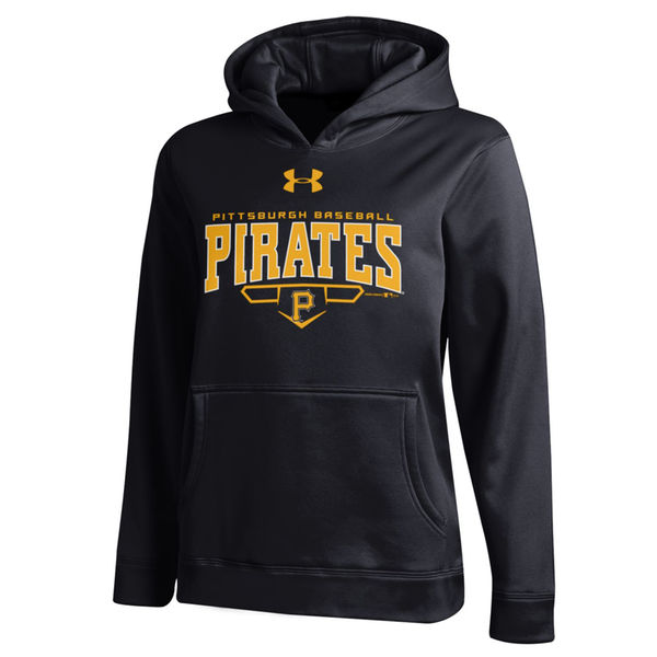 Men Pittsburgh Pirates Under Armou Fleece Hoodie - Black