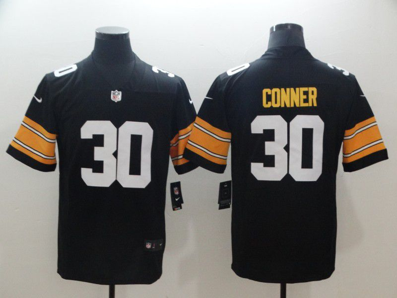 Men Pittsburgh Steelers 30 Conner Black Nike Vapor Untouchable Limited NFL Jersey