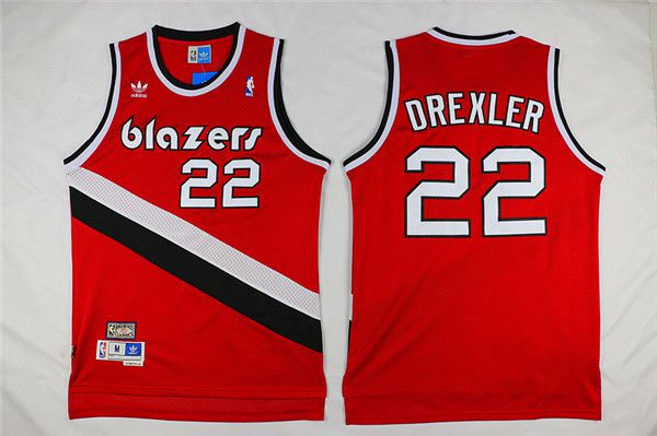 Men Portland Trail Blazers 22 Drexler Red Adidas NBA Jerseys