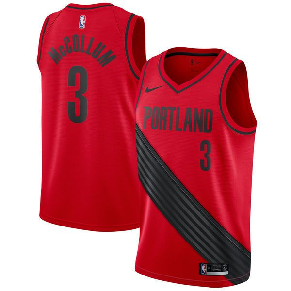 Men Portland Trail Blazers 3 Mccollum Red Game Nike NBA Jerseys